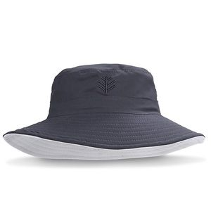 Coolibar black and white bucket hat